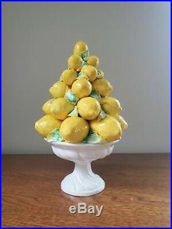 Vintage Italian Lemon Majolica Topiary Centerpiece