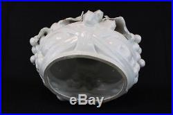 Vintage Italian made white ceramic fruit bowl centerpiece