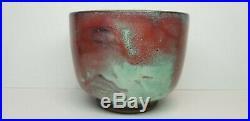 Vintage JUGTOWN WARE North Carolina Art Pottery Chinese Blue Flambe 1930's Bowl