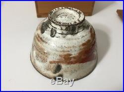 Vintage Japanese Art Pottery Chawan Tea Bowl withOriginal Box, Signed, 5 Diameter