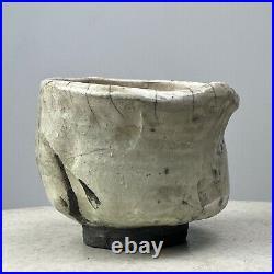 Vintage Japanese Wabi Sabi Footed Bowl, Signed (ca. 1960)