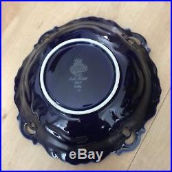 Vintage Jlmenau Echt Kobalt Von Henneberg Germany Footed Cake Plate Stand/bowl