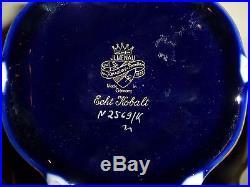 Vintage Jlmenau Graf Von Henneberg Echt Kobalt Compote Pedestal Bowl