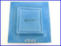 Vintage John Ffrench JFF Square Turquoise Dish Arklow Studio Pottery Ireland