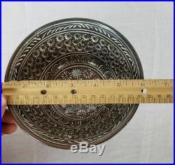 Vintage Korean Mishima Pottery Chawan Tea Bowl By Seo Seon-gil (b. 1939)