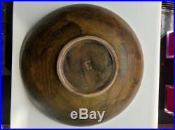 Vintage LARGE Alvino Bagni Italy Pottery Ceramic Bowl Modern Centerpiece