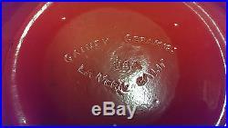 Vintage Large Orange Gainey California Art Pottery Bowl MID Century Modern