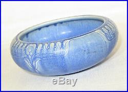 Vintage Large Rookwood Pottery Bowl in Blue Glaze, 1923