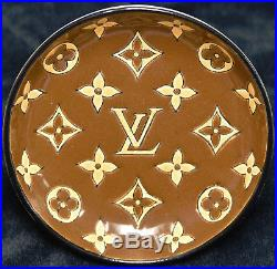 Vintage Louis Vuitton Trinket Cigar Dish Bowl by Longwy Pottery France Authentic