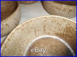 Vintage MARTZ POTTERY Jane & Gordon Marshall Studios round bowl plate cup set