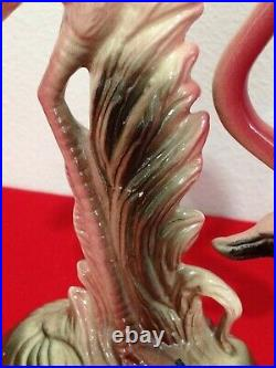 Vintage MCM California Art Pottery Flamingo Lot 4 Figurines & Maddux Pond Bowl