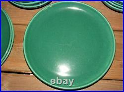 Vintage MCM Metlox Poppytrail California Pottery Plate Bowl Speckle Green 13 pcs