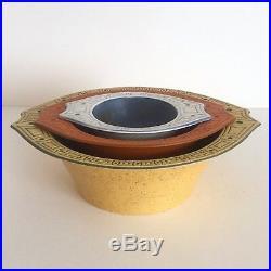 Vintage MID Century Modern Herb Cohen Hyalyn Porcelain Nesting Bowls Set Of 3