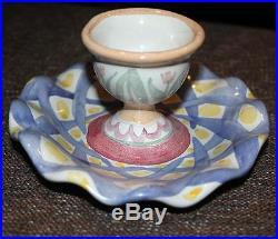 Vintage Mackenzie-Childs Set of 4 Egg Cups Sorbet Marmalade Bowls