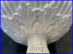 Vintage Majolica Ceramic Fruit Bowl Table Centerpiece Italy Set Of 2