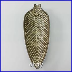 Vintage Mari Simmulson NIGERIA Leaf Bowl Upsala-Ekeby Nr 4272 MCM 40 cm Sweden