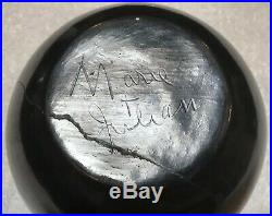 Vintage Maria Martinez Julian San Ildefonso Pueblo Blackware Pottery Bowl Repair