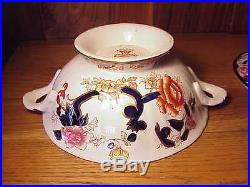 Vintage Mason's Mandalay Ironstone -blue Multicolor- Fancy Covered Serving Bowl