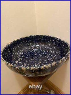Vintage Massive Bennington Potters Blue Agate David Gill Bowl 2181 Pristine