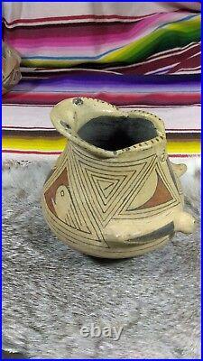 Vintage Mata Ortiz Pottery Frog Bowl