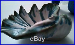 Vintage McCarty /McCartys Pottery Clam Shell Bowl / Mississippi