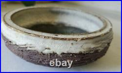 Vintage McCarty Pottery Brown and White Bowl Green Waterbottom Rare