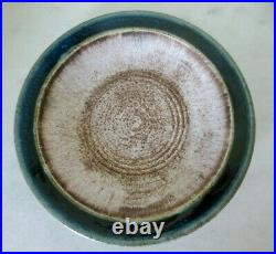 Vintage McCarty Pottery Nutmeg with Jade Edge Shallow Bowl Plate Artist Signed