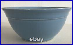 Vintage McCoy Nesting Mixing Bowls SET OF 4 Light Blue USA Oven Ware Glazed RARE