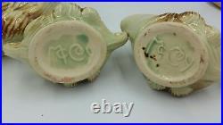 Vintage McCoy Teapot & Sugar/Cream Bowls Pine Cone Pattern