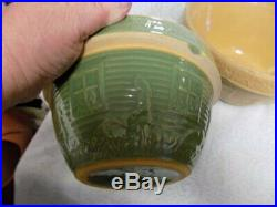 Vintage Mccoy Bowl Setstonewaregirl Watering Flowers4 Pcearth Tones