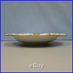 Vintage Meissen floral centerpiece bowl heavy gilding 1927 NEAR MINT