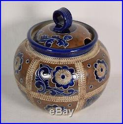 Vintage Merkelbach Goebel German Salt Glaze Pottery Tureen Punch Bowl Cobalt