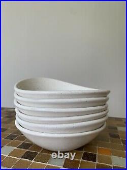 Vintage Metlox Poppytrail Aztec Coupe Soup Bowl Lot Of 6 6 7/8x 6 MCM 1950s