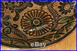 Vintage Mexican Ceramic Pottery Folk Art Bowl Antonio Rivera
