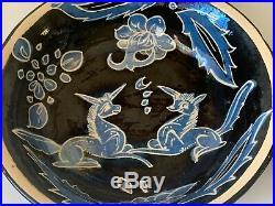 Vintage Mexican Tlaquepaque Fantasia Pottery Bowls Set of 4