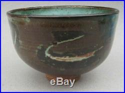 Vintage Mid Century Modern Edna Arnow Chicago Studio Art Pottery Bowl Signed