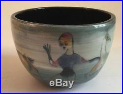 Vintage Mid Century Modern Polia Pillin Art Pottery Vase Pot