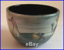 Vintage Mid Century Modern Polia Pillin Art Pottery Vase Pot Bowl