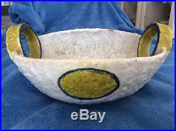 Vintage Mid Century Modern Raymor Fantoni ITALY Large Circle Handle Bowl