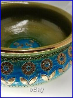 Vintage Mid Century Modern Rosenthal Netter Pottery Bowl Bitossi Aldo Londi