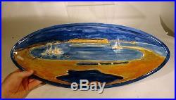 Vintage Mid Century Modern Scandinavian Denmark Art Pottery Herman Kahler Bowl