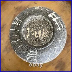 Vintage Modernist Stoneware Bowl by Keiko Hergesheimer (Signed)