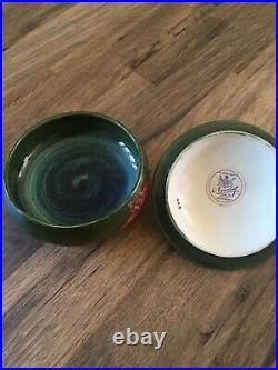 Vintage Moorecroft Hibiscus Lidded Bowl-1953-1978