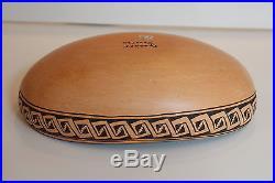 Vintage Museum Quality Native American Hopi Pottery 10.5 Bowl by Garnet Pavatea