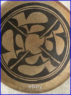 Vintage Native American Pueblo Hopi Pottery Hand Painted Bowl Ethnic Design