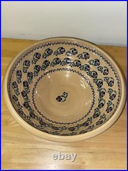 Vintage Nicholas Mosse Ireland Pedestal Pansy Bowl 13
