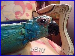 Vintage One-of-a-kind Amazing Double Headed Artisan Studio Pottery Parrot Bowl