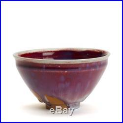 Vintage Oriental Sang De Boeuf Glazed Studio Pottery Bowl