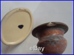 Vintage Original 1920's Roseville DAHLROSE 10 Oval Bowl & 4 Candlesticks Set