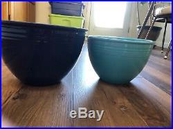Vintage Original Fiesta Pottery Set of Seven Nesting Mixing Bowls